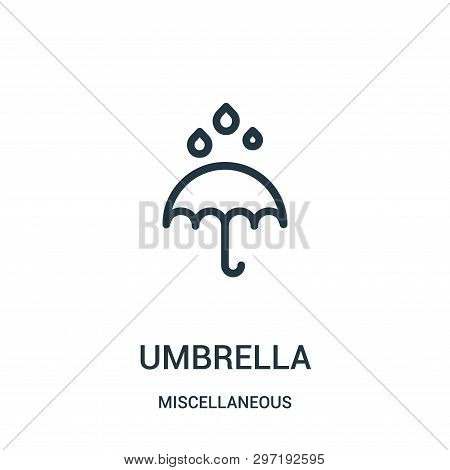 Umbrella Icon Isolated On White Background From Miscellaneous Collection. Umbrella Icon Trendy And M