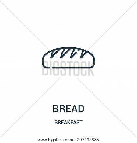 Bread Icon Isolated On White Background From Breakfast Collection. Bread Icon Trendy And Modern Brea
