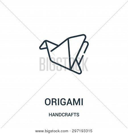 Origami Icon Isolated On White Background From Handcrafts Collection. Origami Icon Trendy And Modern