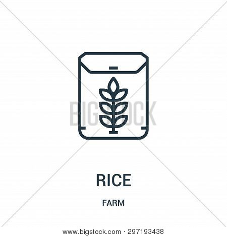 Rice Icon Isolated On White Background From Farm Collection. Rice Icon Trendy And Modern Rice Symbol