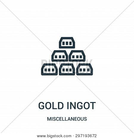 Gold Ingot Icon Isolated On White Background From Miscellaneous Collection. Gold Ingot Icon Trendy A