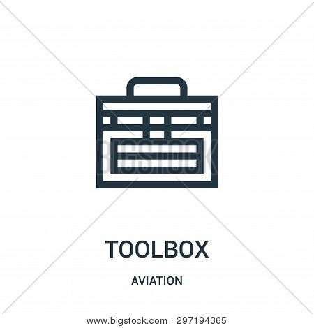 Toolbox Icon Isolated On White Background From Aviation Collection. Toolbox Icon Trendy And Modern T