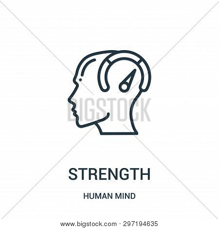 Strength Icon Isolated On White Background From Human Mind Collection. Strength Icon Trendy And Mode