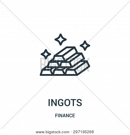 Ingots Icon Isolated On White Background From Finance Collection. Ingots Icon Trendy And Modern Ingo