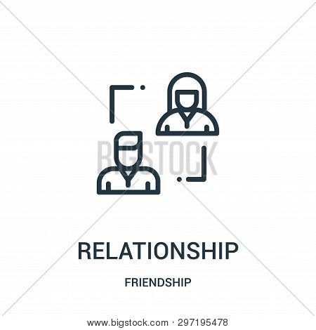 Relationship Icon Isolated On White Background From Friendship Collection. Relationship Icon Trendy