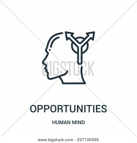 Opportunities Icon Isolated On White Background From Human Mind Collection. Opportunities Icon Trend