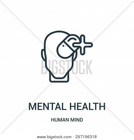 Mental Health Icon Isolated On White Background From Human Mind Collection. Mental Health Icon Trend