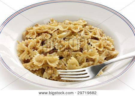 kasha varnishkes, buckwheat and bow-tie pasta, a traditional jewish dish poster