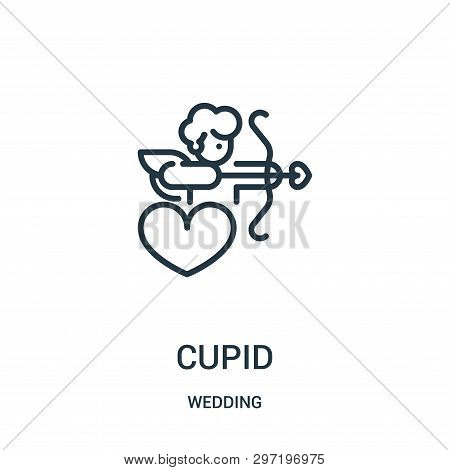 Cupid Icon Isolated On White Background From Wedding Collection. Cupid Icon Trendy And Modern Cupid