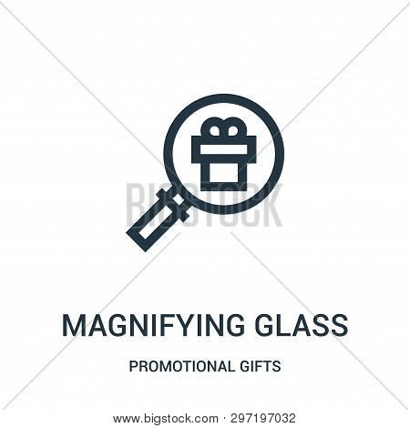 Magnifying Glass Icon Isolated On White Background From Promotional Gifts Collection. Magnifying Gla