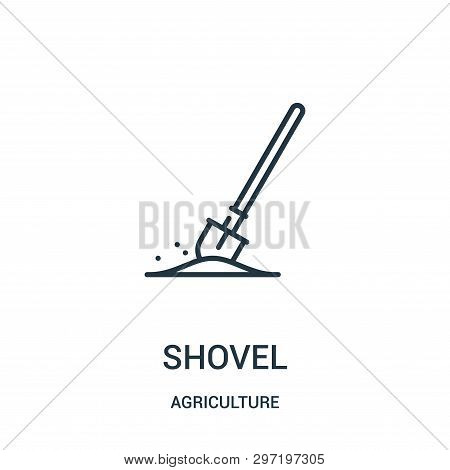 Shovel Icon Isolated On White Background From Agriculture Collection. Shovel Icon Trendy And Modern