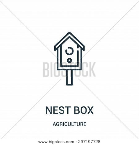 Nest Box Icon Isolated On White Background From Agriculture Collection. Nest Box Icon Trendy And Mod