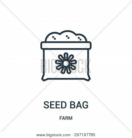 Seed Bag Icon Isolated On White Background From Farm Collection. Seed Bag Icon Trendy And Modern See
