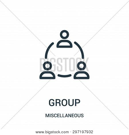 group icon isolated on white background from miscellaneous collection. group icon trendy and modern group symbol for logo, web, app, UI. group icon simple sign. group icon flat vector illustration for graphic and web design. poster