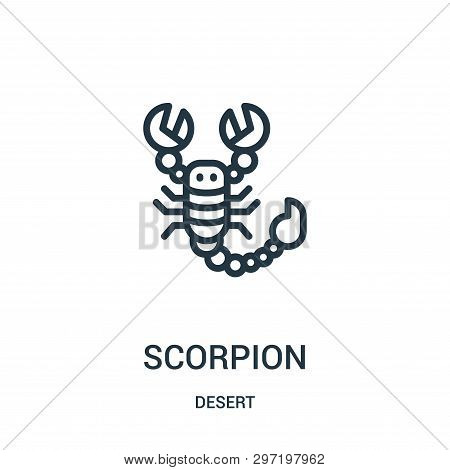 Scorpion Icon Isolated On White Background From Desert Collection. Scorpion Icon Trendy And Modern S