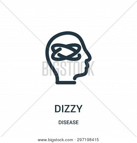 Dizzy Icon Isolated On White Background From Disease Collection. Dizzy Icon Trendy And Modern Dizzy