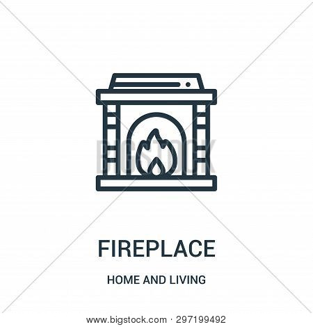 Fireplace Icon Isolated On White Background From Home And Living Collection. Fireplace Icon Trendy A