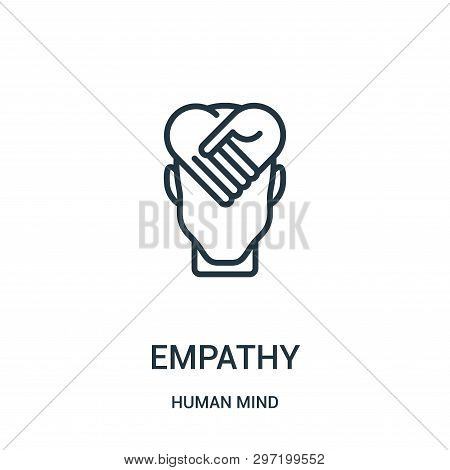 Empathy Icon Isolated On White Background From Human Mind Collection. Empathy Icon Trendy And Modern