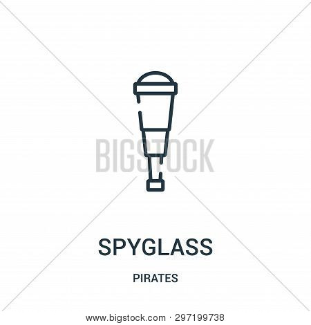 Spyglass Icon Isolated On White Background From Pirates Collection. Spyglass Icon Trendy And Modern