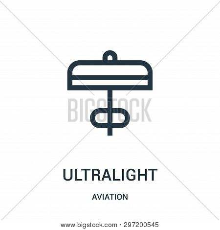 Ultralight Icon Isolated On White Background From Aviation Collection. Ultralight Icon Trendy And Mo