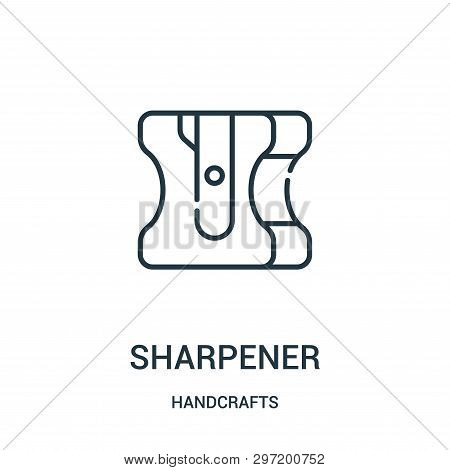 Sharpener Icon Isolated On White Background From Handcrafts Collection. Sharpener Icon Trendy And Mo