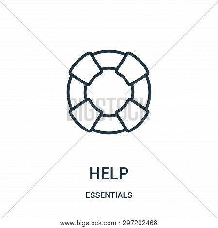 Help Icon Isolated On White Background From Essentials Collection. Help Icon Trendy And Modern Help