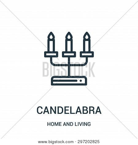 Candelabra Icon Isolated On White Background From Home And Living Collection. Candelabra Icon Trendy
