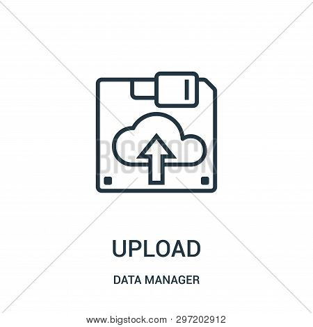 Upload Icon Isolated On White Background From Data Manager Collection. Upload Icon Trendy And Modern