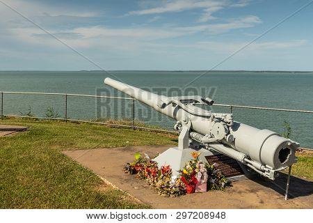 Darwin Australia - February 22, 2019: Uss Peary War Memorial In Bicentennial Park Along Shore Of Dar