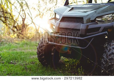 Utv Or Atv Off-road Recreational Sporting Vehicle Used For Hunting And Farming