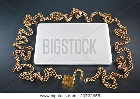 Unprotected laptop