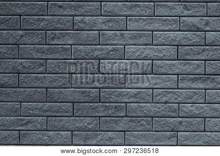 Abstract Gray Pattern Of Brick Wall Background. Light Grey Stone Background. Grey Bricks Texture Bac