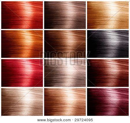 Haarfarben legen. Farbtöne