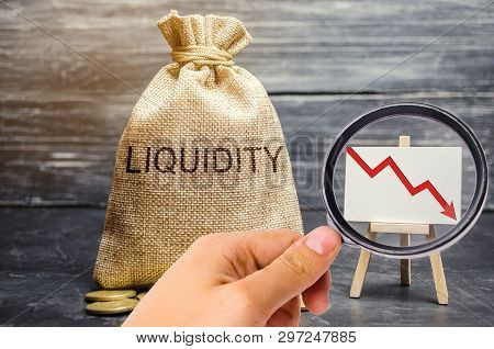 Falling Liquidity And Profitability Of Stocks And Investments. Recession. Low Attractiveness Of Shor