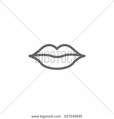 Lips Outline Icon. Elements Of Beauty And Cosmetics Illustration Icon. Signs And Symbols Can Be Used