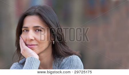 Mid age sadness woman portrait