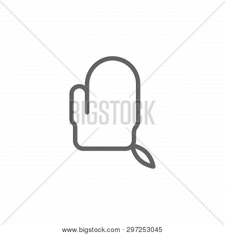 Exfoliating Mitten Outline Icon. Elements Of Beauty And Cosmetics Illustration Icon. Signs And Symbo