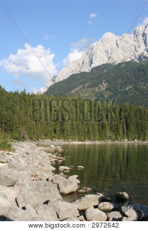 Zugspitz-massif And Lake Eibsee