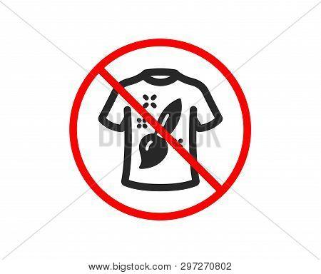 No Or Stop. T-shirt Design Icon. Creative Brush Sign. T Shirt Graphic Art Symbol. Prohibited Ban Sto