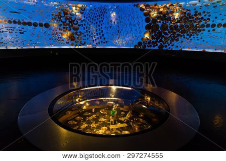 Bogota , Colombia  - February 23, 2017 : Museo del Oro gold museum in Bogota capital city of Colombia South America