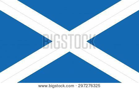 Scotland Flag Vector Eps10. Scottish Flag. Flag Of Scotland.
