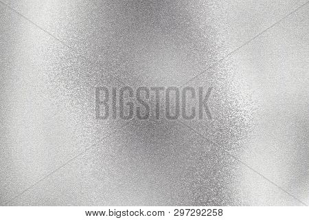 Abstract Texture Background, Shiny Silver Foil Wave Metal Wall