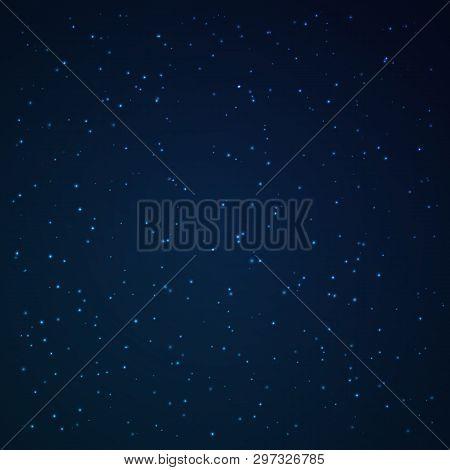 The Star Studded Sky. Vector Illustration. Stellar Galaxy