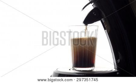 An image of a glass of fresh coffee