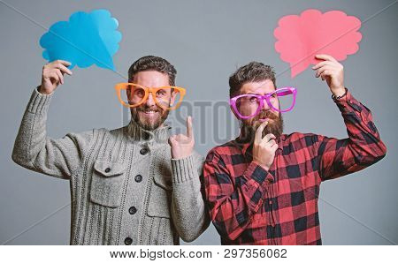 Comic And Humor Sense. Men With Beard And Mustache Mature Hipster Wear Funny Eyeglasses. Explain Hum