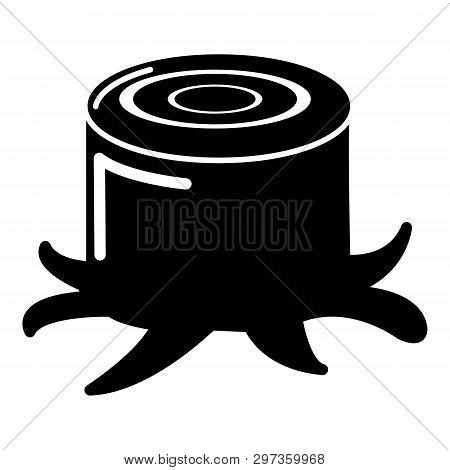Stump Icon. Simple Illustration Of Stump Icon For Web
