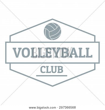 Volleyball Logo. Simple Illustration Of Volleyball Logo For Web