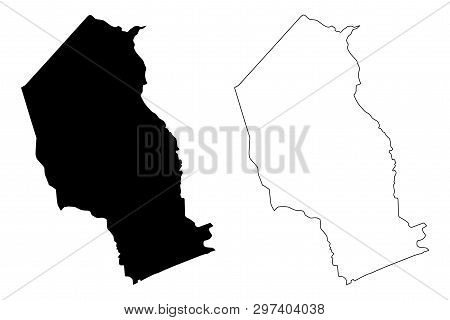 Gaza Province (provinces Of Mozambique, Republic Of Mozambique) Map Vector Illustration, Scribble Sk