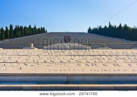 Italian World War I Memorial And Cemetery Of Redipuglia, Italy