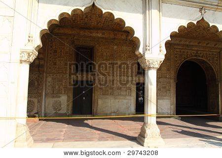 India Delhi the Red Fort it was built by Shahjahan as the Delhi citadel of the 17th Century poster